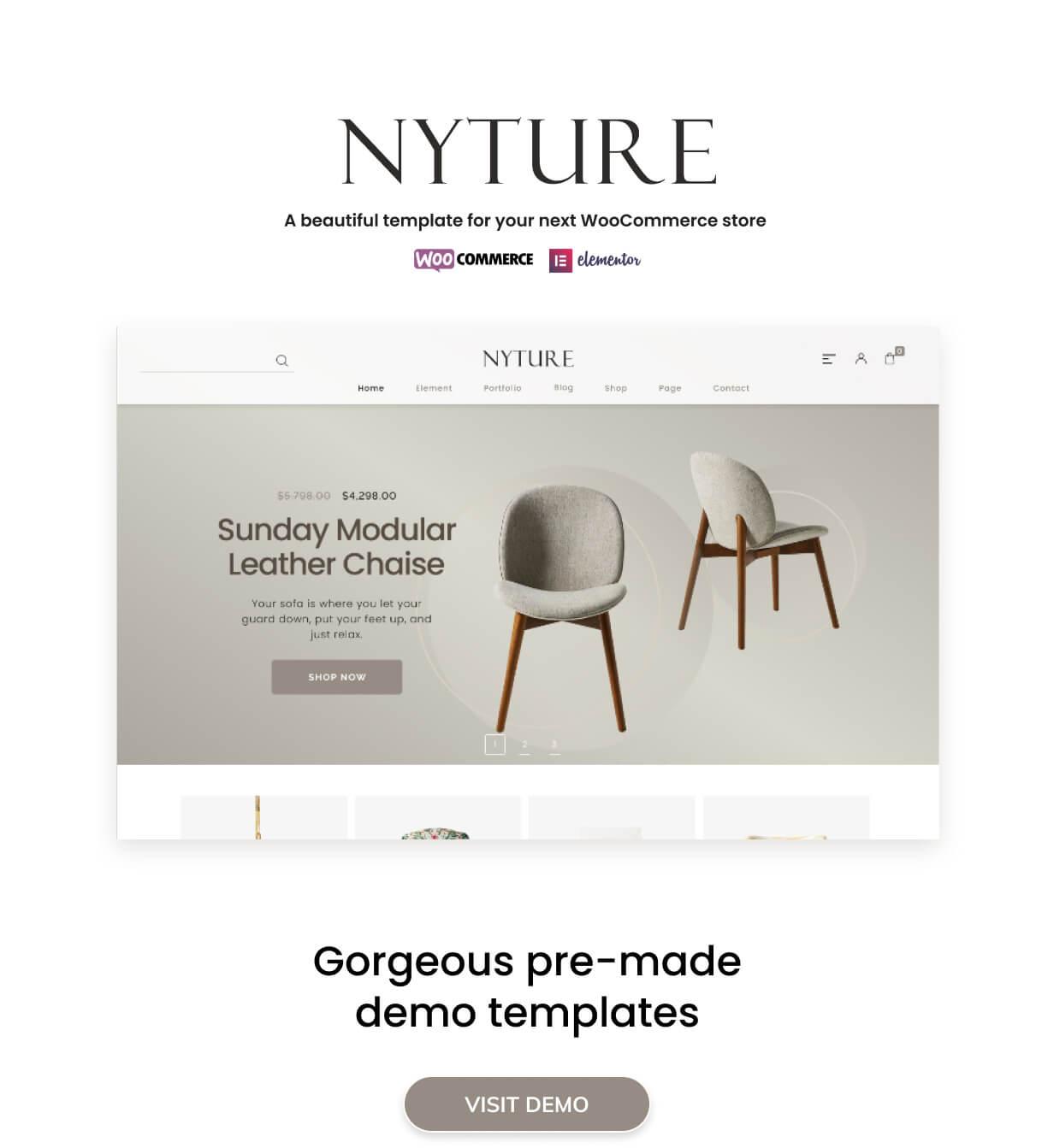 Nyture - Elementor WooCommerce Theme - 2